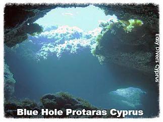 the blue hole near green bay in protaras cyprus