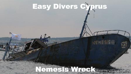 Nemesis Wreck in Protaras Cyprus