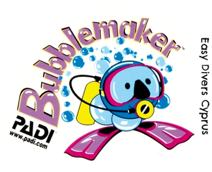 Padi Bubblemakers in Cyprus Kids go scuba diving