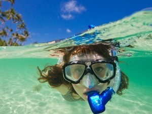 snorkeling at green bay