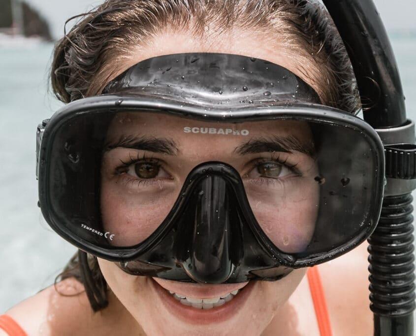 clear scuba mask
