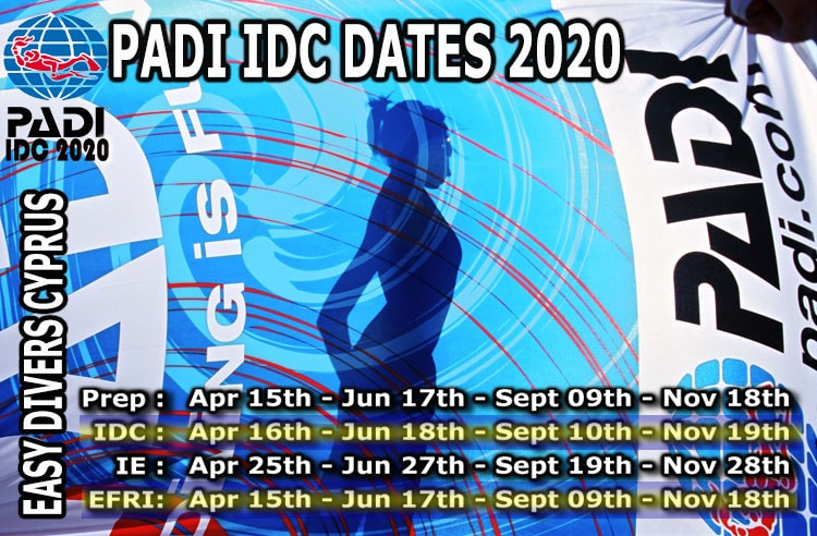 Padi idc date cyprus 2020 with easy divers