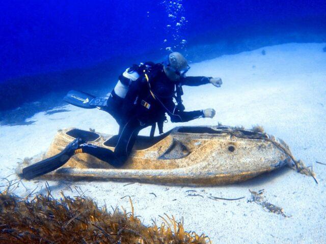 Diving Cyclops Cave Cyprus