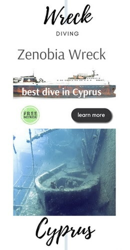 Wreck diving Zenobia